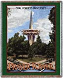 Oral Roberts Univ Prayer Tower Throw - 70 x 54 Blanket/Throw