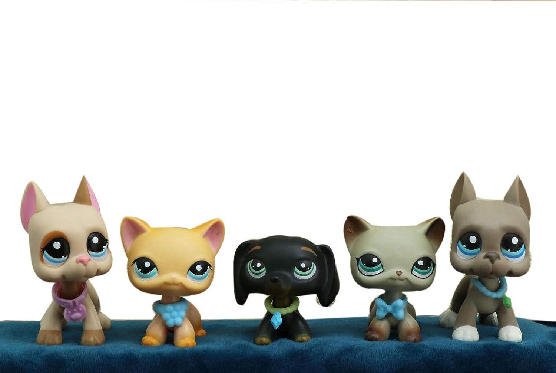 Lpstwo Lps Shorthair Cat 339 994 391 Yellow Black Grey Kitty Lps
