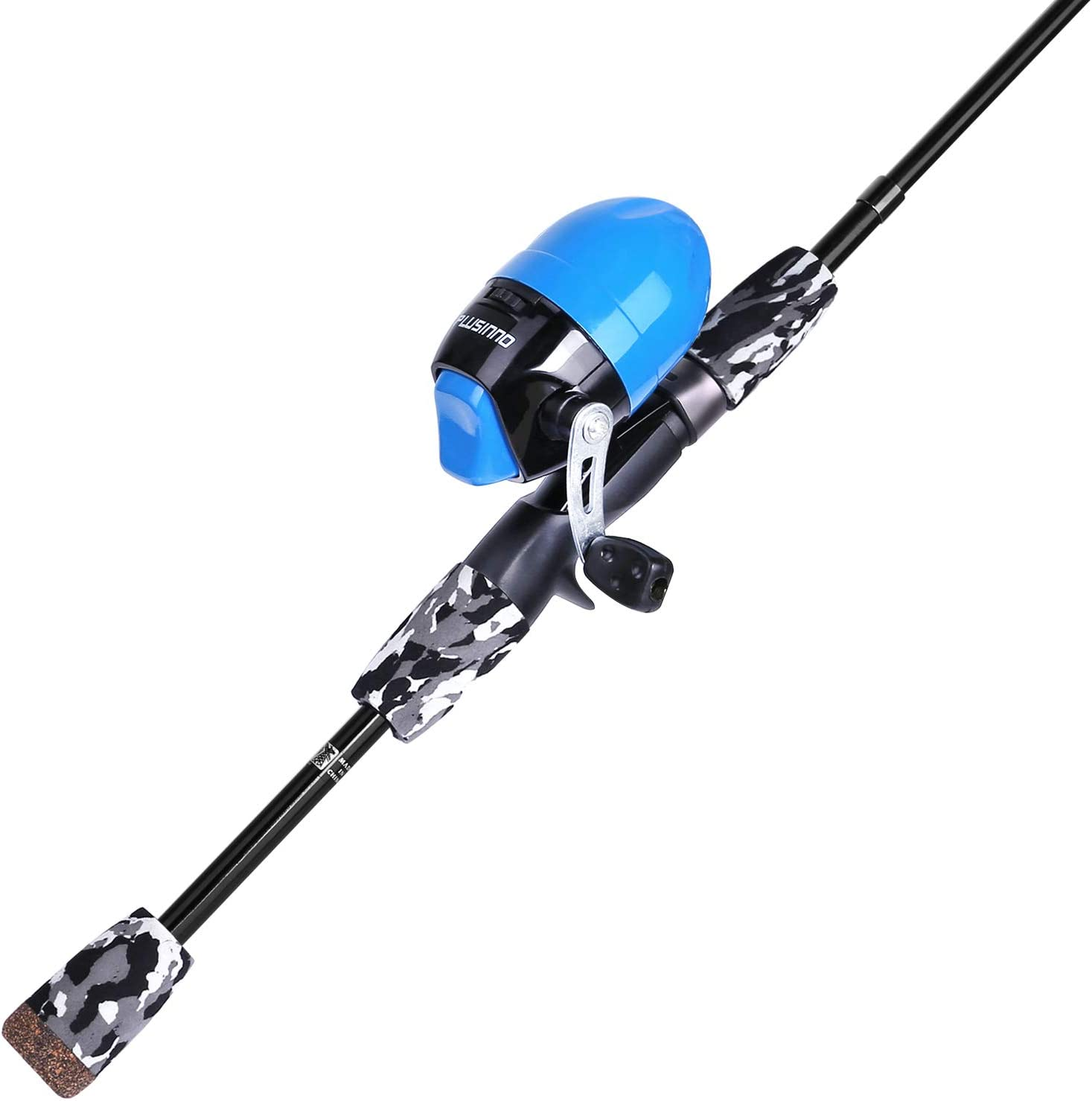 Amazon.com : PLUSINNO Kids Fishing Pole with Spincast Reel Telescopic Fishing Rod Combo Full Kits for Boys, Girls, and Adults : Sports & Outdoors