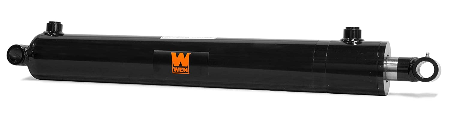 Black WEN WT2520 Cross Tube Hydraulic Cylinder with 2.5 Bore and 20-inch Stroke