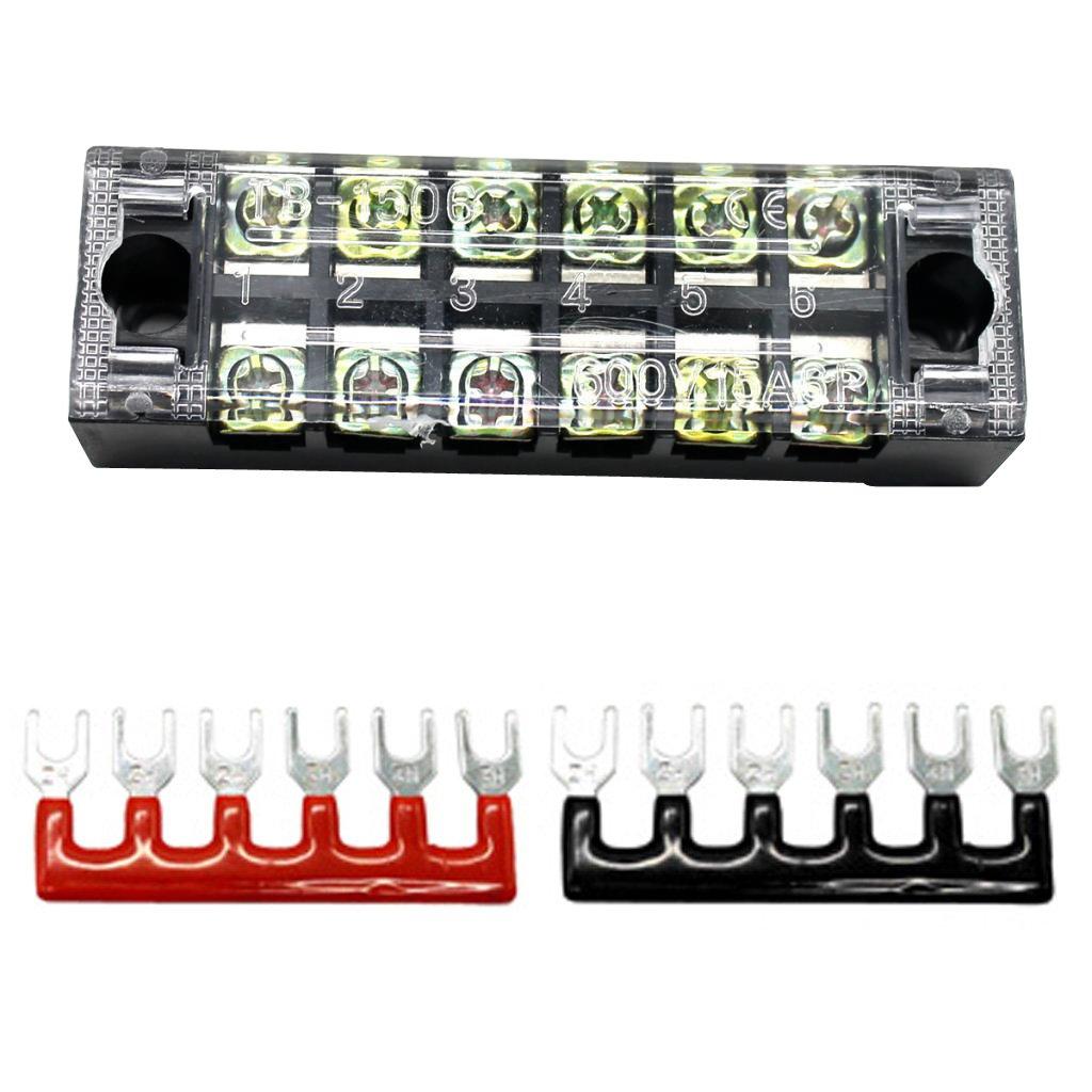 F Fityle 1 x Positionen Dual Reihige Klemmblock Barrierenleiste Kabelverbinder Terminalstreifen