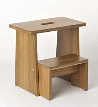 Tritthocker Sitzhocker Holz Stabil In Eiche Geräuchert Massivholz