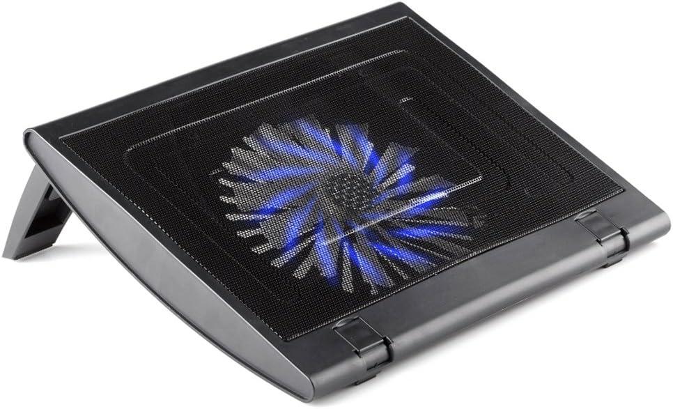 NGS Turbostand - Base de refrigeración para portátil (USB 2.0, Ventilador Iluminado), Negro: Amazon.es: Informática