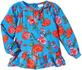 Egg by Susan Lazar Baby Girl's Big Flowers Printed Blouse - Blue - 18 Months