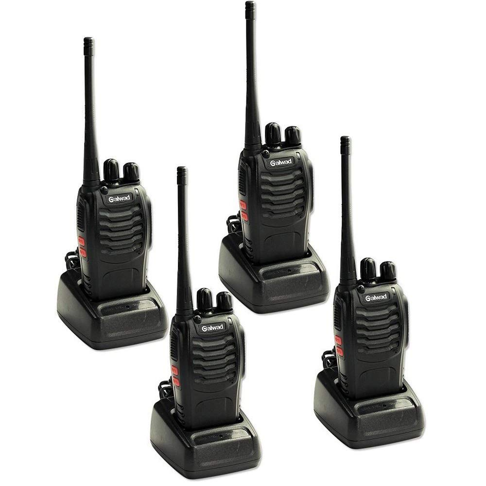 4 PCS Walkie Talkies 16CH Signal Band UHF 400-470 MHz With Rechargeable Li-ion Battery Long Range Two Way Radio Box Contain 4 of Every Item
