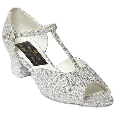 Tappers & Pointers - Zapatillas de danza para niña Plateado plata LlN8HyG