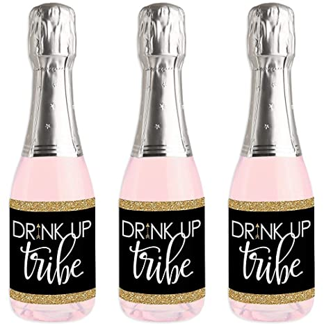 Amazon.com: Bride Tribe – Mini pegatinas para botellas de ...