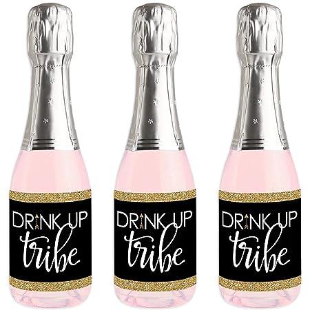 Bride Tribe - Mini vinos y champán etiqueta pegatinas de ...