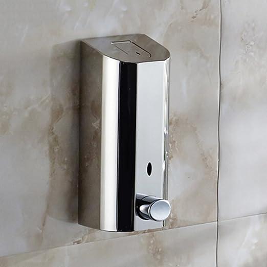 Ducha de dispensadores Montaje en pared,Acero inoxidable Dispensador de jabón prensa,Inicio Hotel Cuarto de baño Botella de detergente Box de ducha ...
