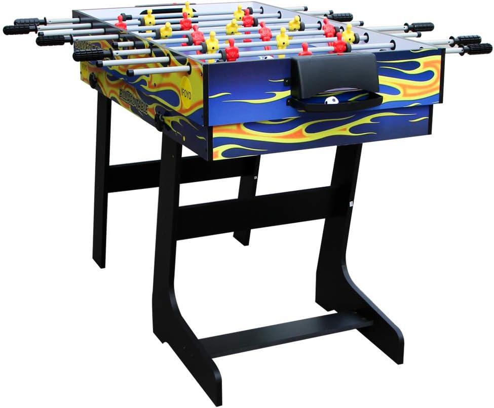 IFOYO 48 pulgadas / 4 pies multifunción 4 en 1 mesa de juego de mesa de hockey mesa de futbol mesa de billar, mesa de tenis de mesa: Amazon.es: Deportes y aire libre