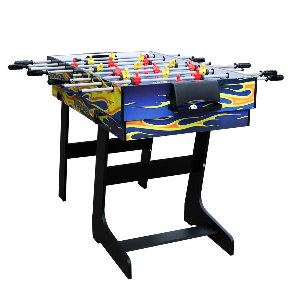IFOYO Multi-Function 4 in 1 Steady Combo Game Table, Hockey Table, Soccer Foosball Table, Pool Table, Table Tennis Table, Yellow Flame, 48 in / 4 ft, Christams Gift by IFOYO (Image #8)