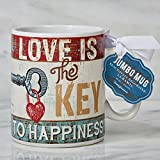 Certified International Jumbo Mugs - Everyday Love Is The Key To Happiness 30 oz.