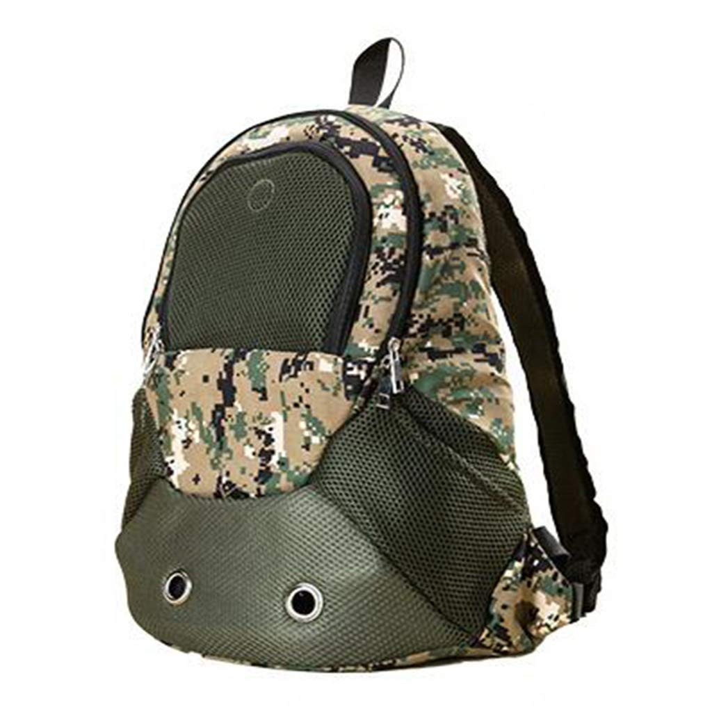 Double Shoulder Pet Bag Multifunctional Four Seasons Universal Foldable Removable Camouflage Off-Road Cat Bag Dog Out Portable Bag Travel Bag
