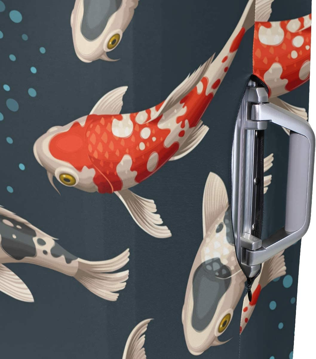 GIOVANIOR Koi Carp Luggage Cover Suitcase Protector Carry On Covers