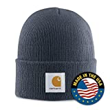 : Carhartt Men's Acrylic Watch Hat,Bluestone,One Size
