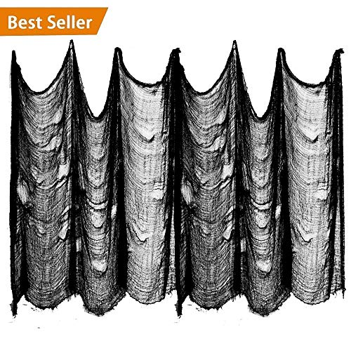 Benran Halloween Creepy Cloth Party Decor Drape Doorways Entryways Windows Cover Gauze 5 Yards X 30