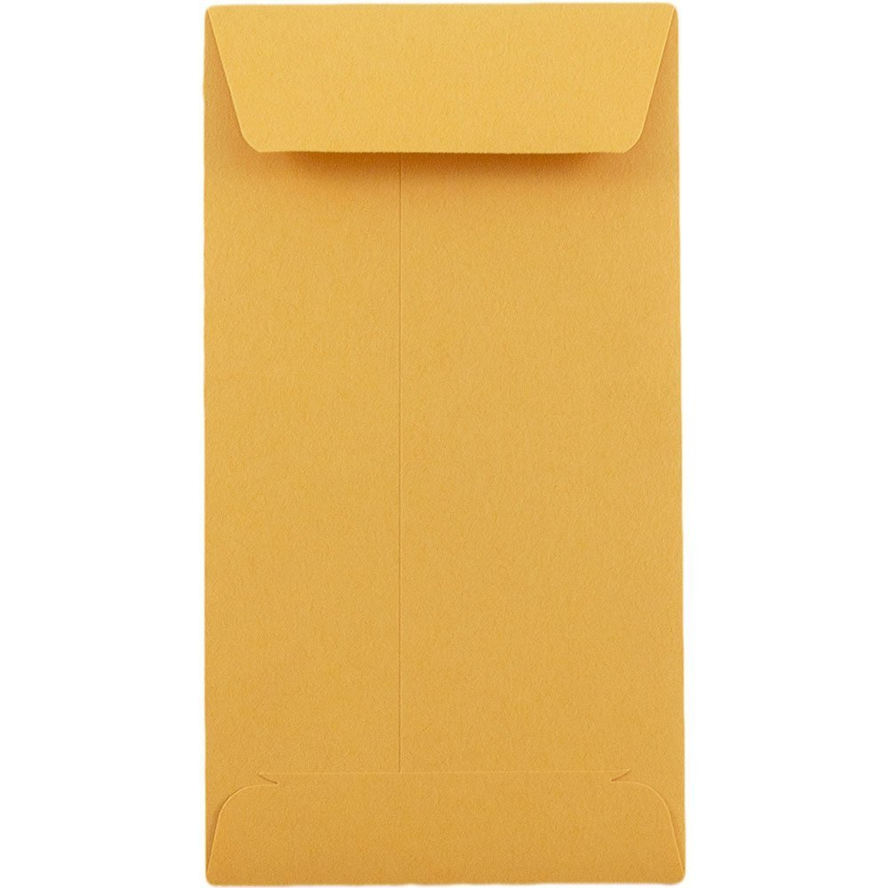 # 5 1/2 Coin Envelope 3 1/8 x 5 1/2 inches Brown Kraft Perfect for Storing Small Parts, Coins, Jewelry, Stamps, Seeds and beeds 50 envelopes per Pack The Envelope Specialist