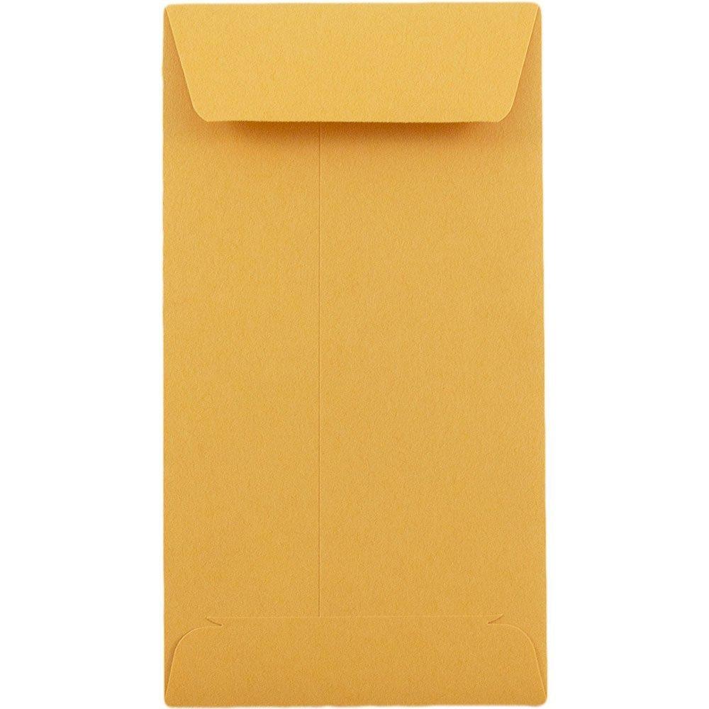 # 6 Coin Envelopes 3 3/8 x 6 inches Brown Kraft 100 Envelopes per Box