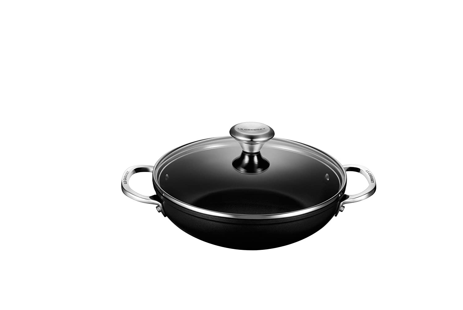 Le Creuset of America Toughened NonStick Shallow Casserole/Braiser with Lid, 2.5 quart