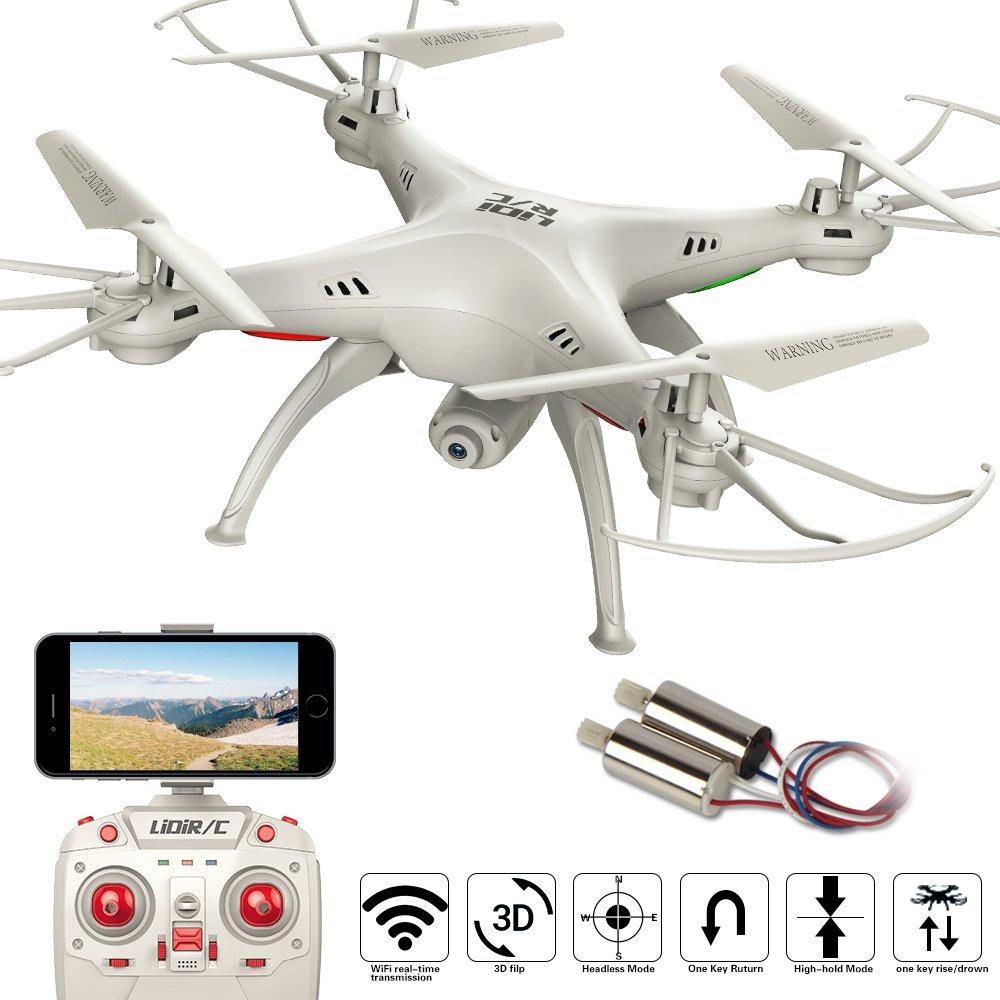 LiDiRC L15HW (SYMA aggiornamento X5SW) 2.4GHz 6-Axis Gyro Wifi FPV con fotocamera 0.3MP HD modalità RC Quadcopter Drone alta stiva con 2 motori in più molto facile da volare per i principianti