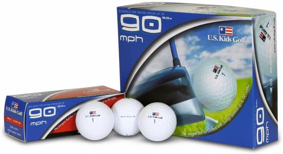 U.S. Kids Golf Champion Pelota de Golf, 3 Unidades, 90 mph, Color ...