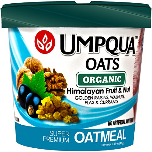 Umpqua Oats Oatmeal Super Premium Organic Himalayan Fruit & Nut Gluten Free 2.47 Ounce Meals (12 Count)