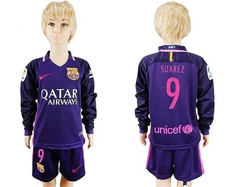 pretty nice 4f246 55439 FC Barcelona 9 Luis Suarez Away Soccer Football Kids Jersey ...