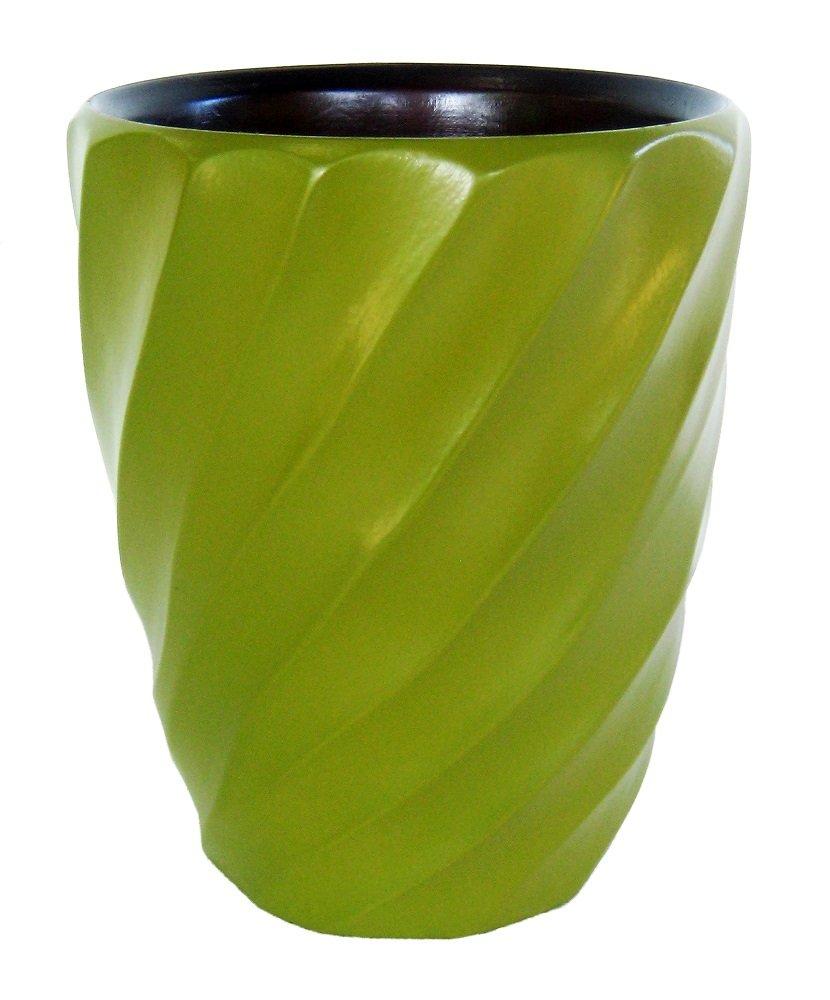Enrico 3140MS4080 Mango Wood Spiral Utensil Vase, Avocado