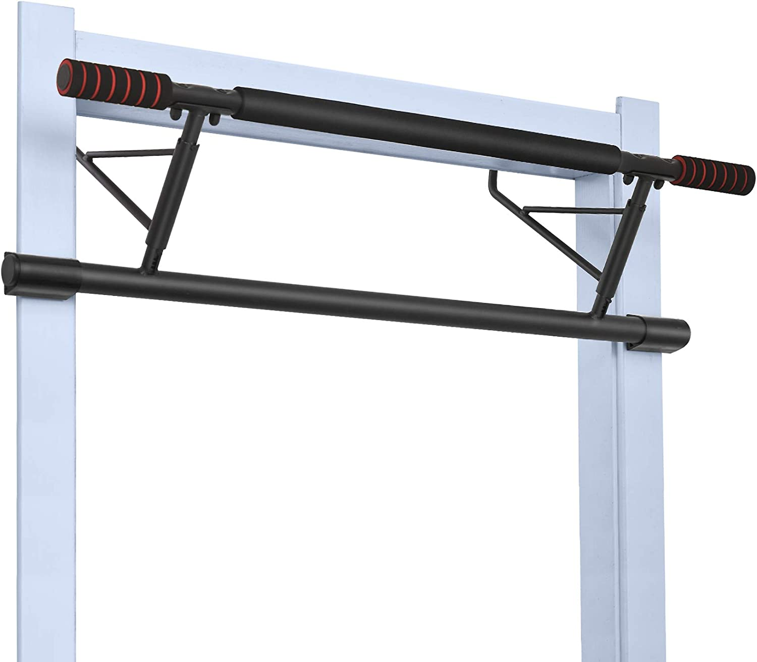 NBJStar Pull Up Bar with Smart Larger Hooks, Foldable 4 in 1 Chin-Up Bar for Home Gym, USA Shipping, No Assembly Required
