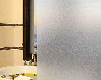 Exquleg Fensterfolie Selbstklebend Milchglasfolie Blickdicht