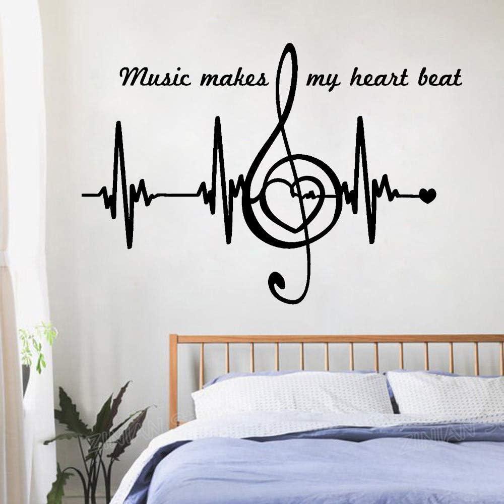 Notas de la música Cita Tatuajes de pared Dormitorio Decoración ...