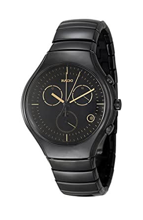 379b5cc5075 Image Unavailable. Image not available for. Color  Rado True Chronograph Black  Ceramic Mens Watch ...