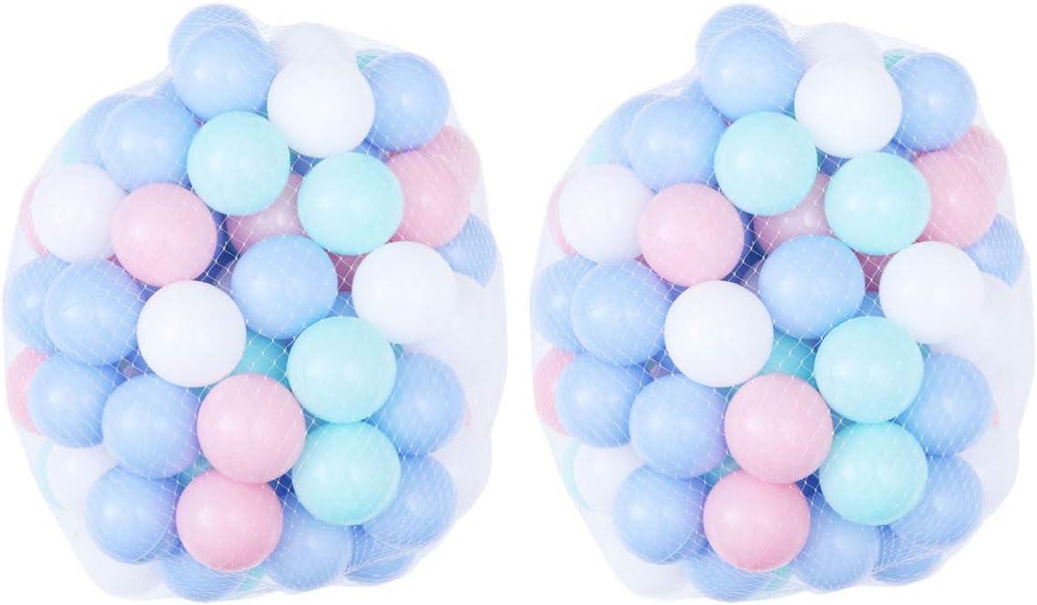 LIOOBO 200 Piezas Bola de Plástico a Prueba de Aplastamiento Colorido Océano Bola Piscina Jugar Bolas Baño Juguete para Bebés Y Niños Pequeños