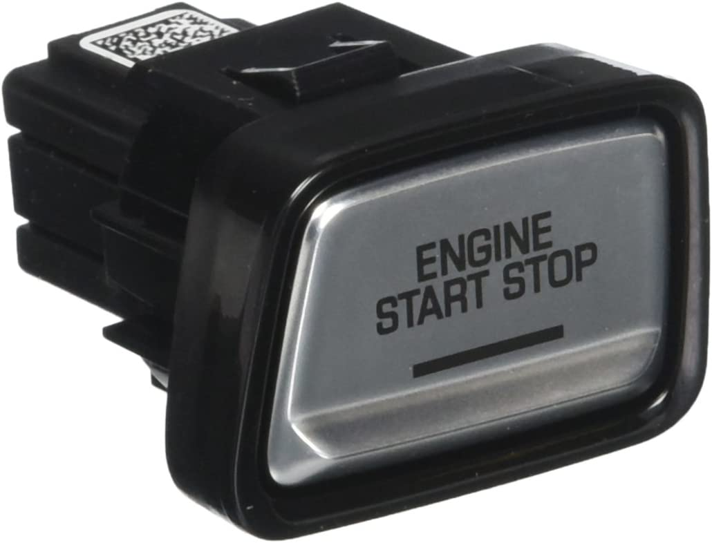 ACDelco 23402526 GM Original Equipment Galvano Silver Ignition Start//Stop Switch with Piano Black Bezel