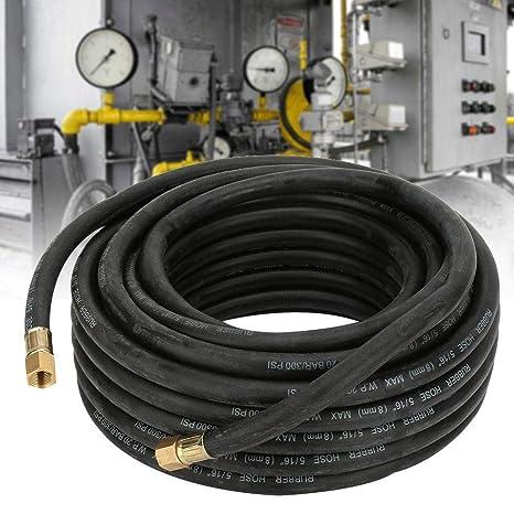 Tuyau de compresseur dair kit daccessoires de tuyau de compresseur dair en caoutchouc de 15 m/ètres avec connecteur pneumatique 6Pcs BSPT