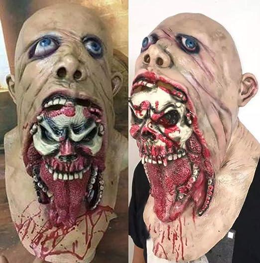 Máscara De Zombi Podrido De Látex De Halloween Muecas Máscara ...