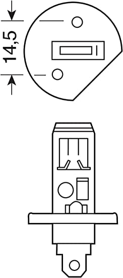 12/V Lampa 58181/Blu-Xe Bulbs H1 100/W