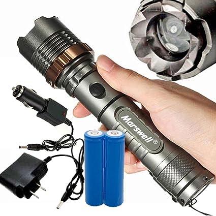 Amazon.com: 5,000lumen T6 LED zoom linterna recargable con ...
