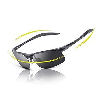 fawova Gafas de Sol Hombre Polarizadas Deportivas, Ultralight Originales de Gafas Sol Ciclismo con UV400 Antideslumbrante, Gafas de Sol Deportes al Aire ...