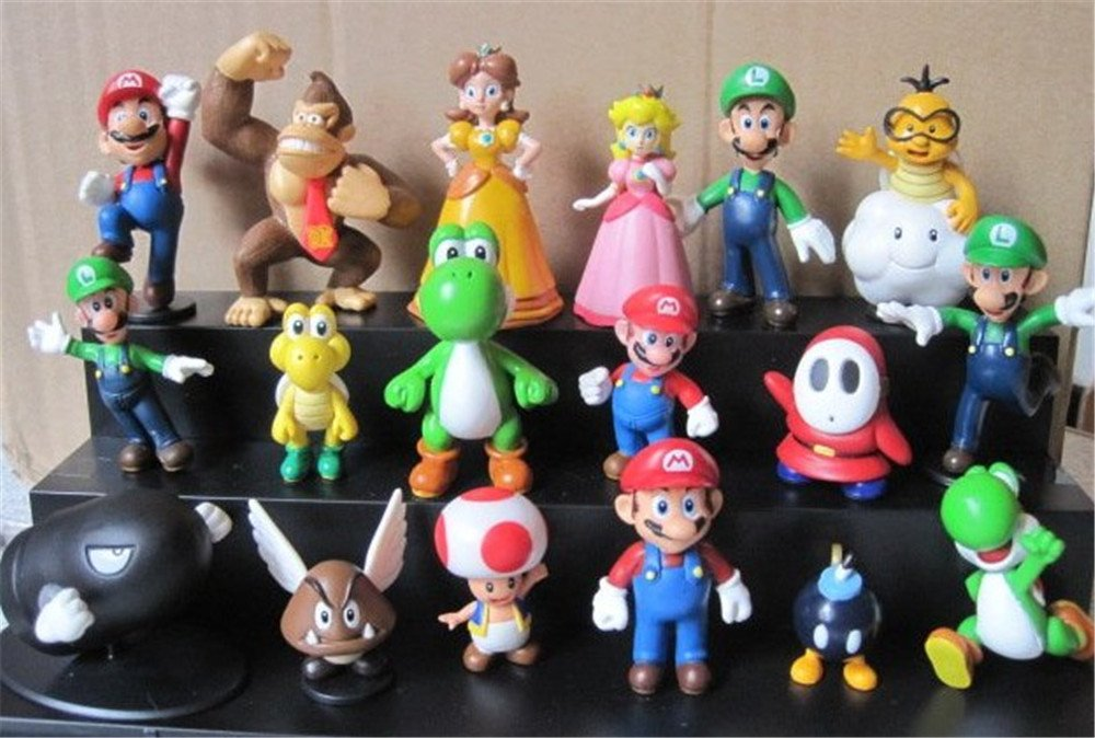 Kids Toys Action Figure: Super Mario Brothers Action Figures Set Mini Figures Kids