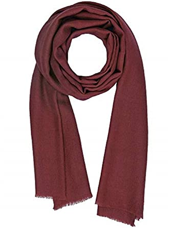 40876ba4c Cashmere Feel Wool Silk Blend Scarf Pashmina Women s Men s Shawl Barn Red