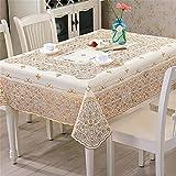 KW PVC Plastic Dining Table Cloth Water Free Wash Tea Table Mat Anti-Hot Soft Glass , b , 137*180cm