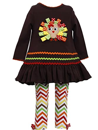 b2ec5c1d912cb Bonnie Jean Toddler & Girls Thanksgiving Holiday Turkey Shirt & Leggings ...