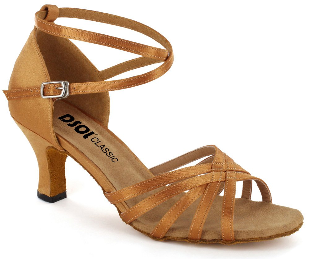 DSOL Women's Latin Dance Shoes DC261303/DC261305 B011DN1UI8 6 B(M) US|Tan