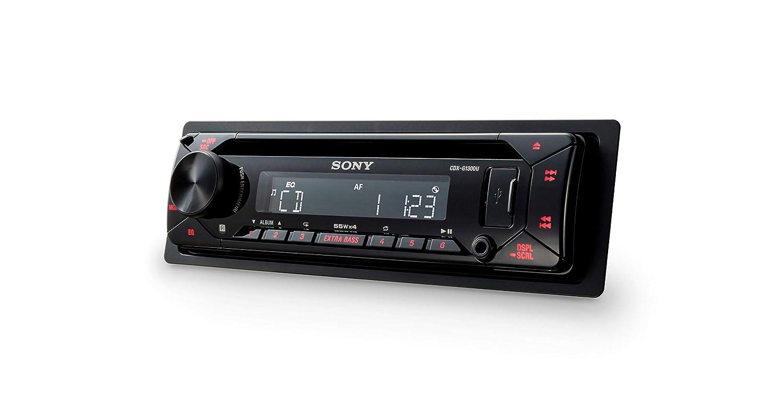 Sony CDXG1301U.EUR car stereo CD player, USB//AUX input, 4x 55 W, extra bass Amber