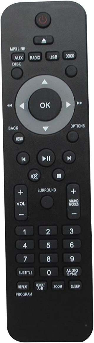 Remote Control for Philips HTS3531 HTS3371D/F7E HTS3373 HTS3376W/12 HTS3371D/F7 DVD Home Theater System