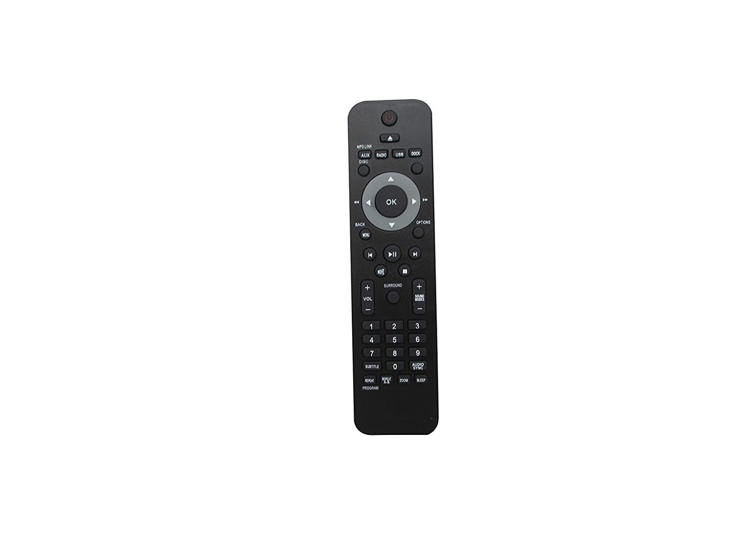 Hotsmtbang Replacement Remote Control for Philips 996510021121 HTS3371 HTS3371/98 HTS3372D/F7B HTS3371D HTS3371D/F7 HTS3317D/F7B HTS3371D/F7E HTS3372D/F7B HTS3372D HTS3372D/F7 DVD Home Theater System