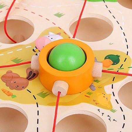 LEVEL GREAT Tire Bolas de Mesa Juego de Niños de Madera de jardín de Infancia temprana Laberinto jardín de Infancia temprana Juguete de la educación del Juguete Educación Atrength Intelectual