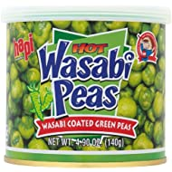 Hapi Hot Wasabi Peas, 4.9-Ounce Tins (Pack of 8)