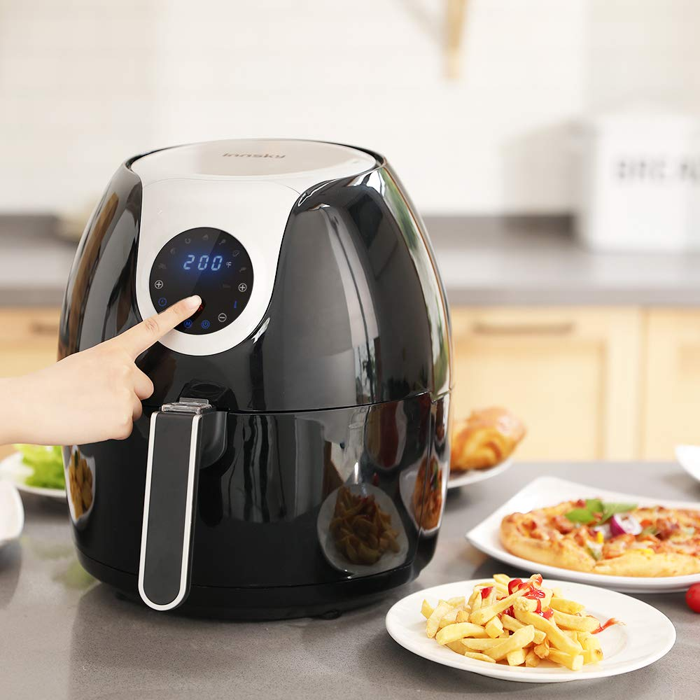 Innsky 6.3 Qt Air Fryer( 32 Main Recipes &Grilling Rack Included), 1700W Electric Hot Air Fryers XL Oven Oilless Cooker, LED Digital Touchscreen, Auto Shut Off, 7 Cooking Presets, Preheat & Nonstick Basket 18+3 Months Warranty by Innsky (Image #2)